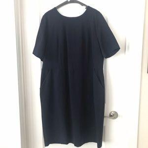 TALBOTS Ponte Sheath Dress Work Navy 16W